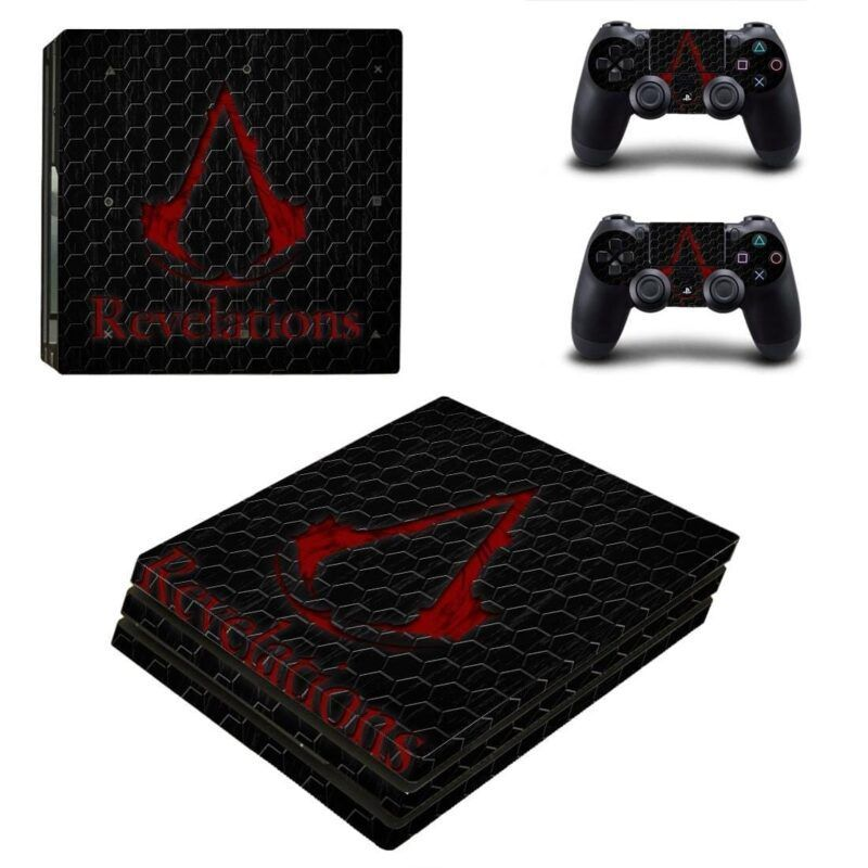 Assassin's Creed Revelations Bloody Logo PS4 Pro Skin