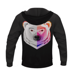 Awesome Vectorized Polar Bear Design Animal Hoodie
