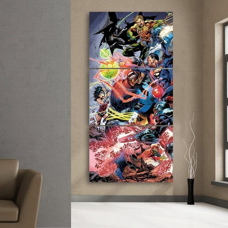 Battle Of The Legends Justice League 3pcs Canvas Print