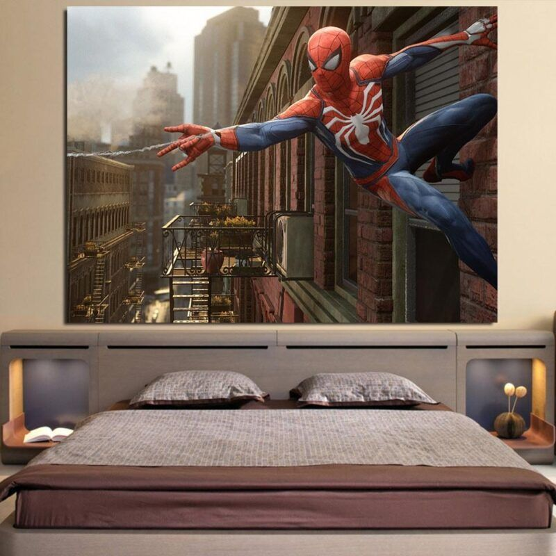 Cool Spider-Man Wall Clinging 1pcs Wall Art Canvas Print