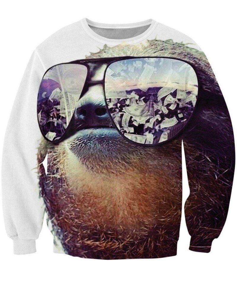 Cool Sunglass Beaver Castor Dollars Money Kick-Ass Casual Sweatshirt - Superheroes Gears