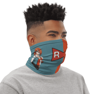 DBZ Android 21 Fan Art Red Ribbon Face Covering Neck Gaiter