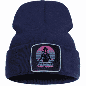 DBZ Future Trunks Capsule Corp. Dark Blue Classic Beanie