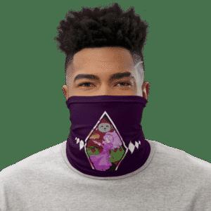 DBZ Ribrianne Transformation Purple Face Covering Neck Gaiter