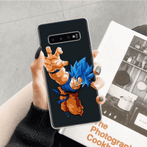 DBZ Super Saiyan Blue Goku Dash Samsung Galaxy S10 Case