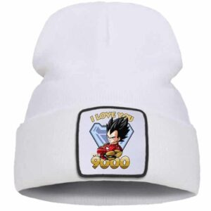 DBZ Vegeta I Love You 3000 Fan Art White Streetwear Beanie