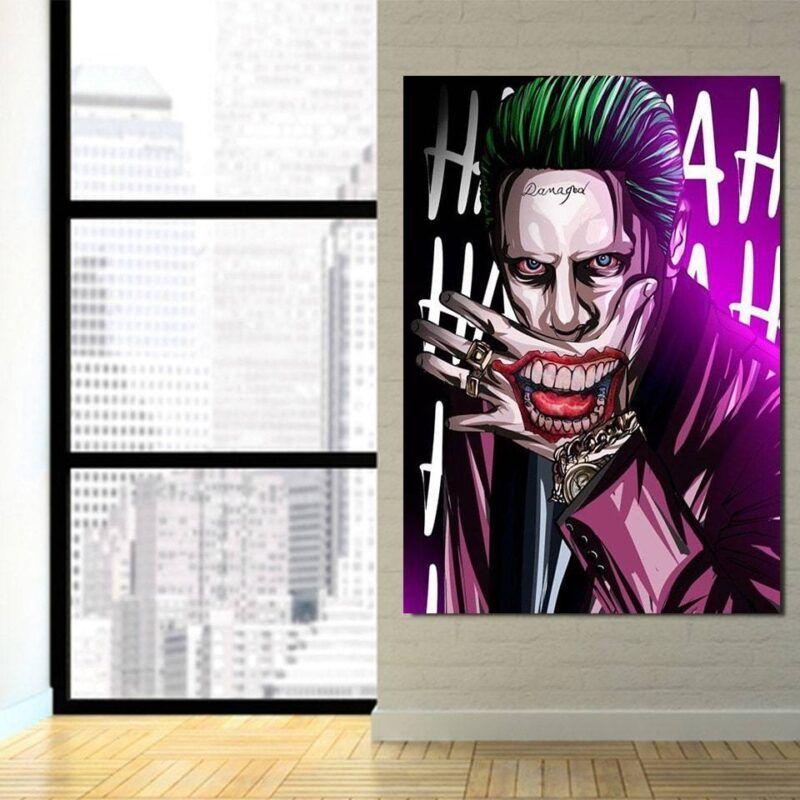 DC Comics Joker Optical Ilusion 1pcs Vertical Canvas Print