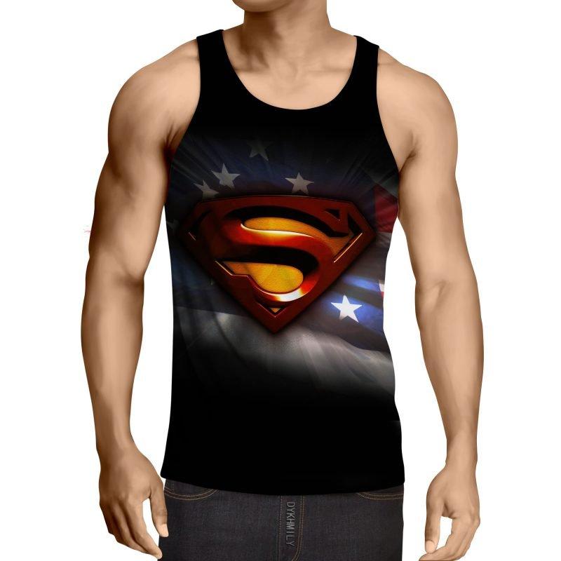 DC Comics Superman Signature Design Full Print Tank Top