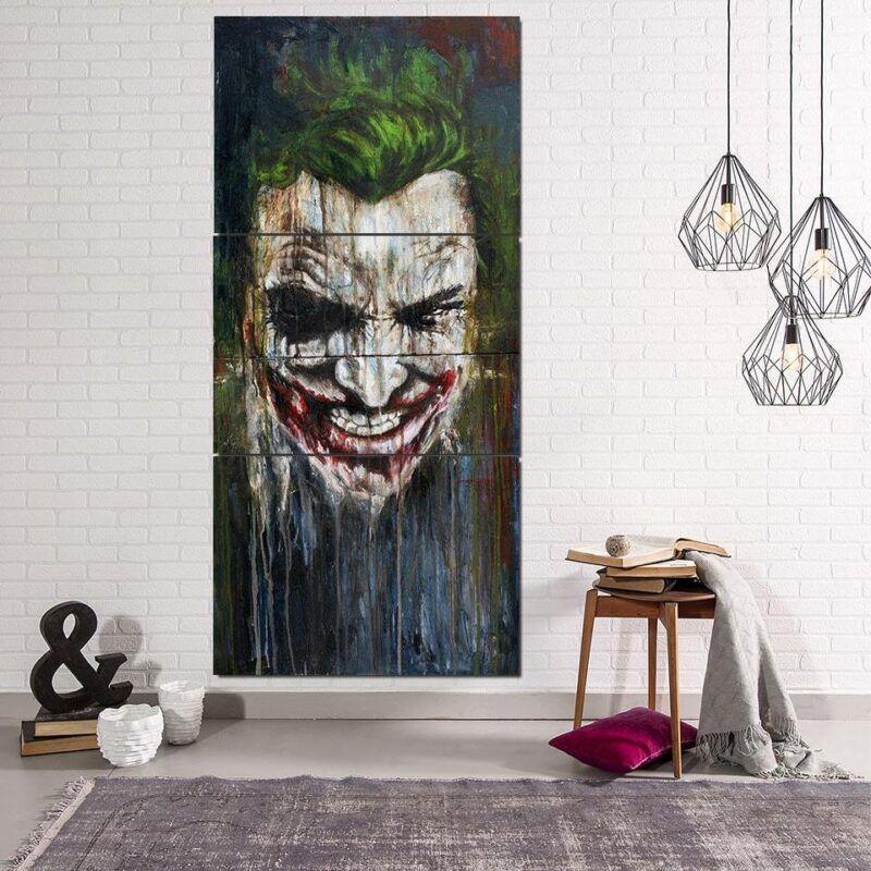 DC Comics Supervillain Mad Joker 3pcs Vertical Canvas Print