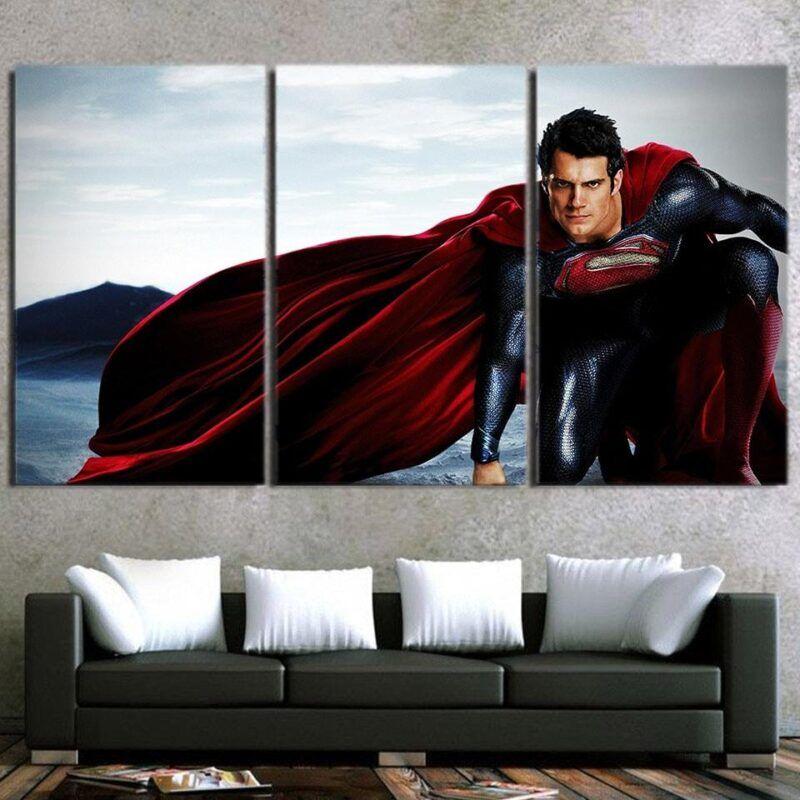DC Comics The Good-Looking Superman Design 3pcs Canvas Print
