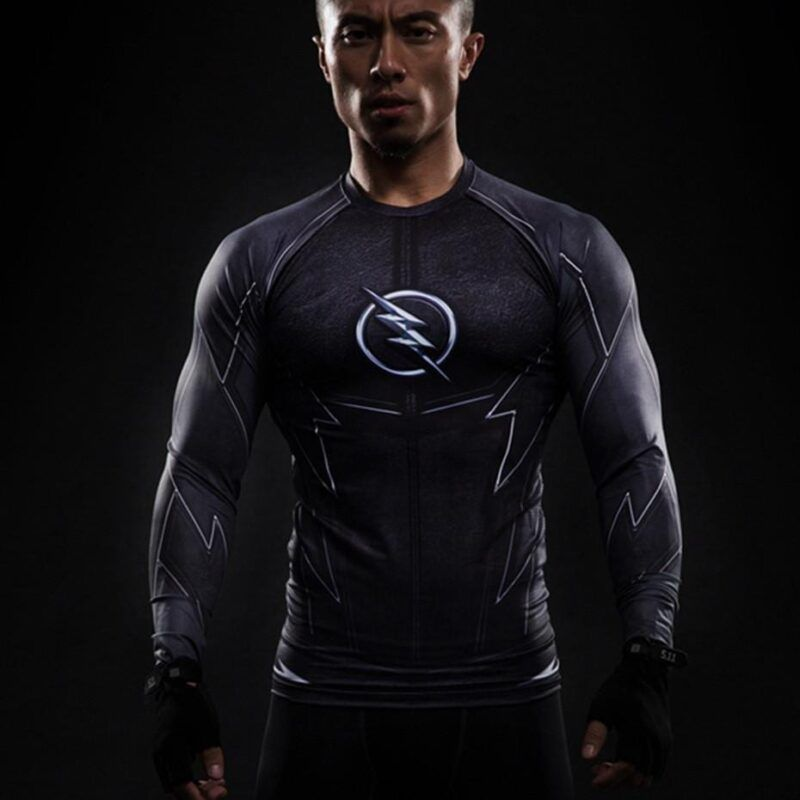 DC The Flash Zoom 3D Printed Compression Long Sleeves Fitness T-shirt - Superheroes Gears