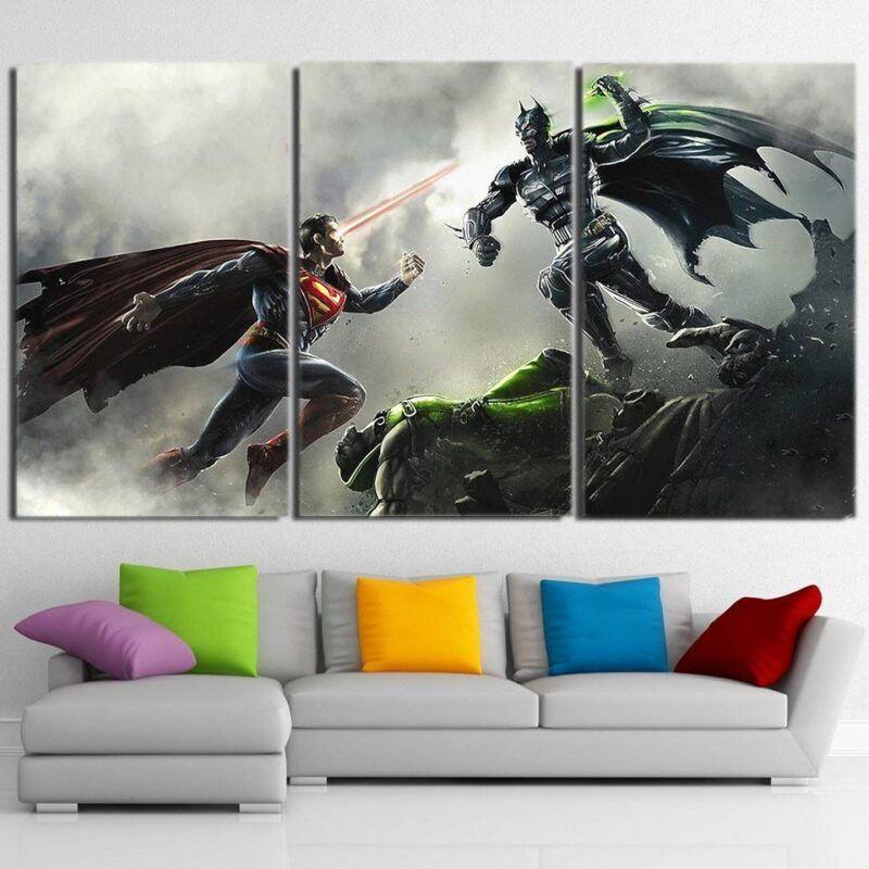Dawn Of Justice Batman v Superman Design 3pcs Canvas Print