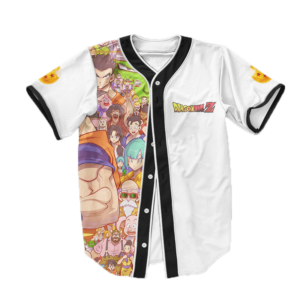 Dragon Ball Z All Star Characters Art Baseball Jersey