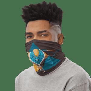 Dragon Ball Z Burter Cool Art Brown Face Covering Neck Gaiter
