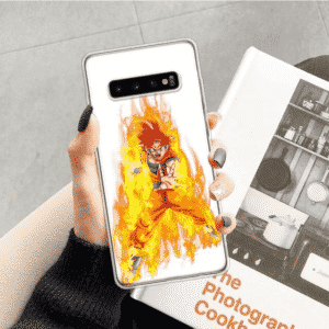 Dragon Ball Z Flaming Aura God Goku Samsung Galaxy S10 Case