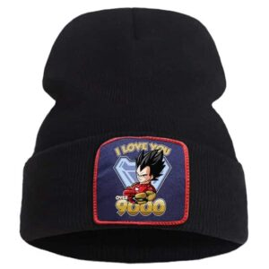 Dragon Ball Z I Love You 3000 Vegeta Fan Art Black Beanie