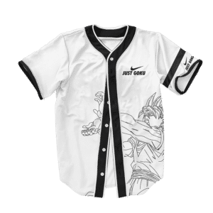 Dragon Ball Z Just Goku Nike Inspired Baseball Jersey