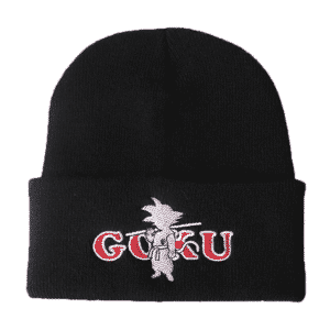 Dragon Ball Z Kid Goku White Embroid Black Streetwear Beanie
