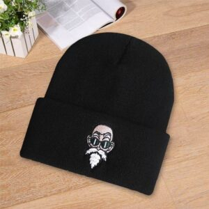 Dragon Ball Z Master Roshi Curious Look Black Casual Beanie