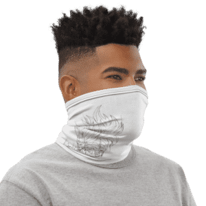 Dragon Ball Z SSJ3 Cabba Dope White Face Covering Neck Gaiter