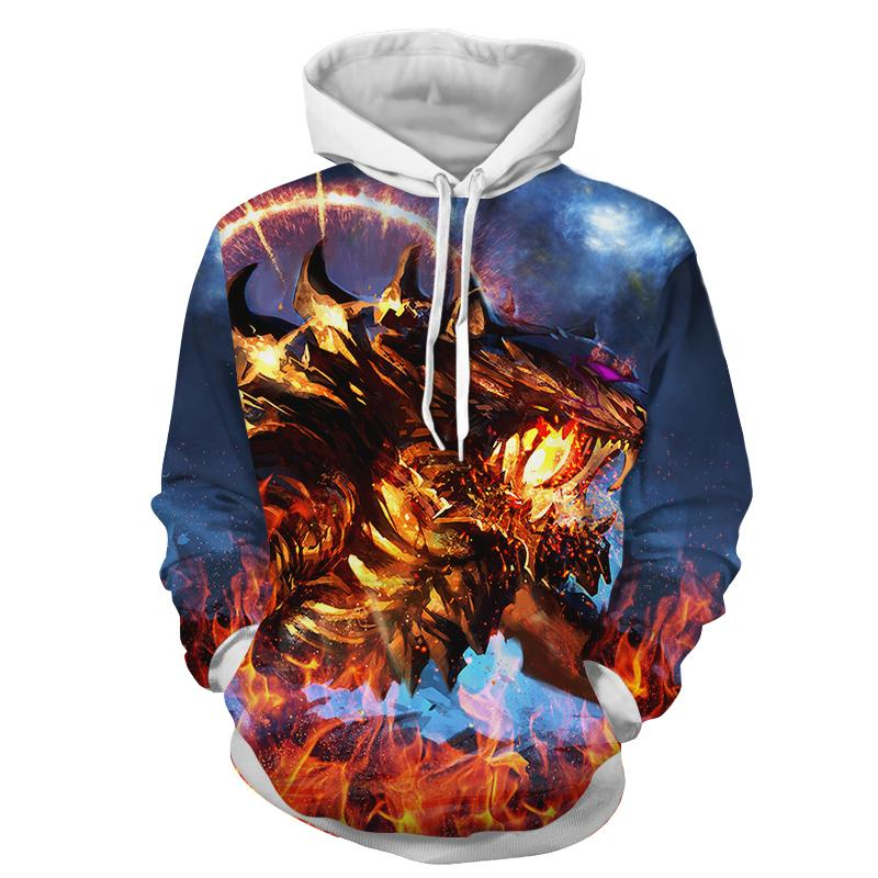 Fuming Mad Spiky Tiger Blazing With Fire Vibrant Hoodie