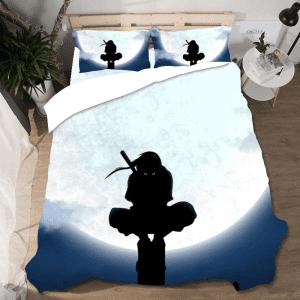 Itachi Uchiha Silhouette Bright Full Moon Bedding Set