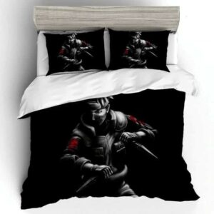 Kakashi Hatake Sharingan Eyes Silhouette Black Bedding Set