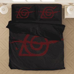 Konohagakure Shinobi Leaf Symbol Black Bedding Set