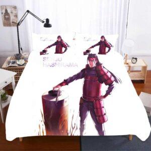 Konohagakure's First Hokage Hashirama Senju White Bedding Set