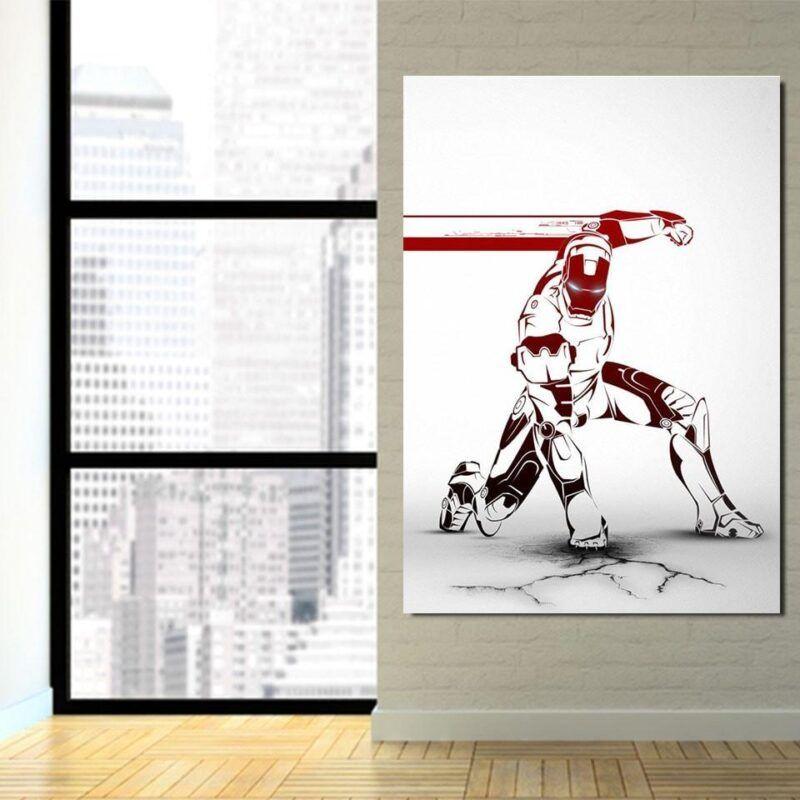 Marvel Comics Forceful Iron Man Portrait 1pc Canvas Print