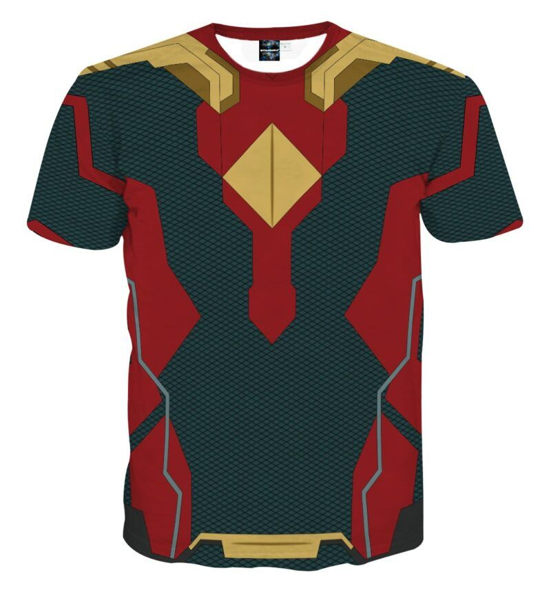 Marvel Avengers Vision Android Superhero Suit Cosplay T-Shirt