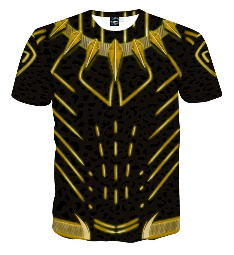 Marvel Black Panther N'Jadaka Erik Killmonger Cosplay T-Shirt