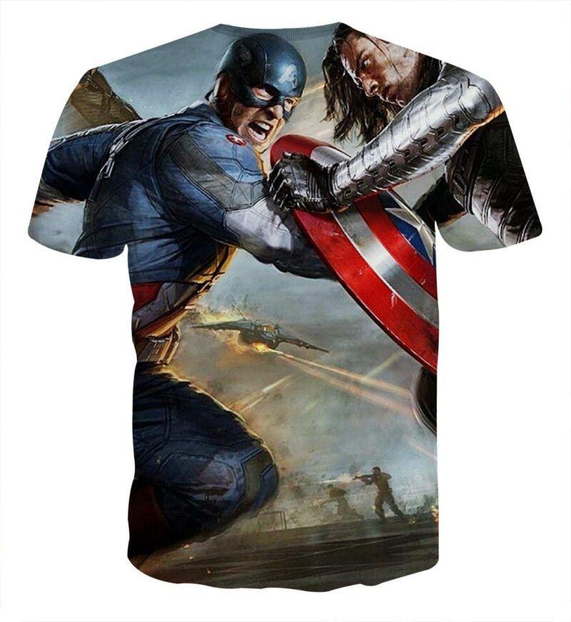Marvel Comics Captain America Vs Thor Cool T-shirt