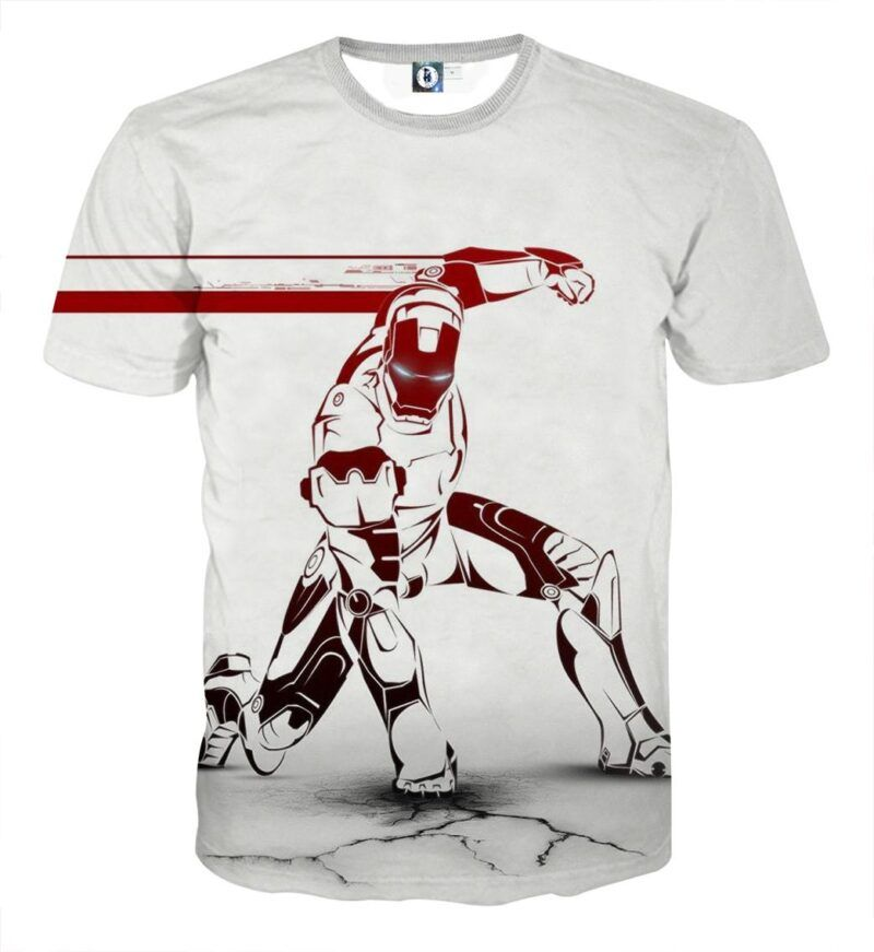 Marvel Comics Forceful Iron Man Design Full Print T-shirt