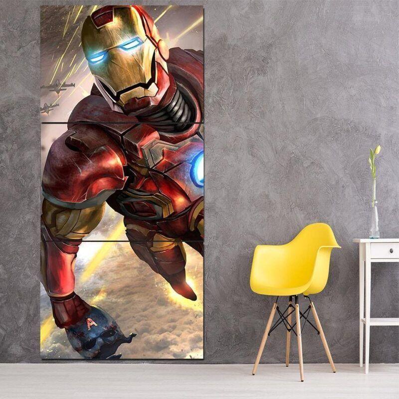 Marvel Comics Indestructible Iron Man 3pcs Canvas Print
