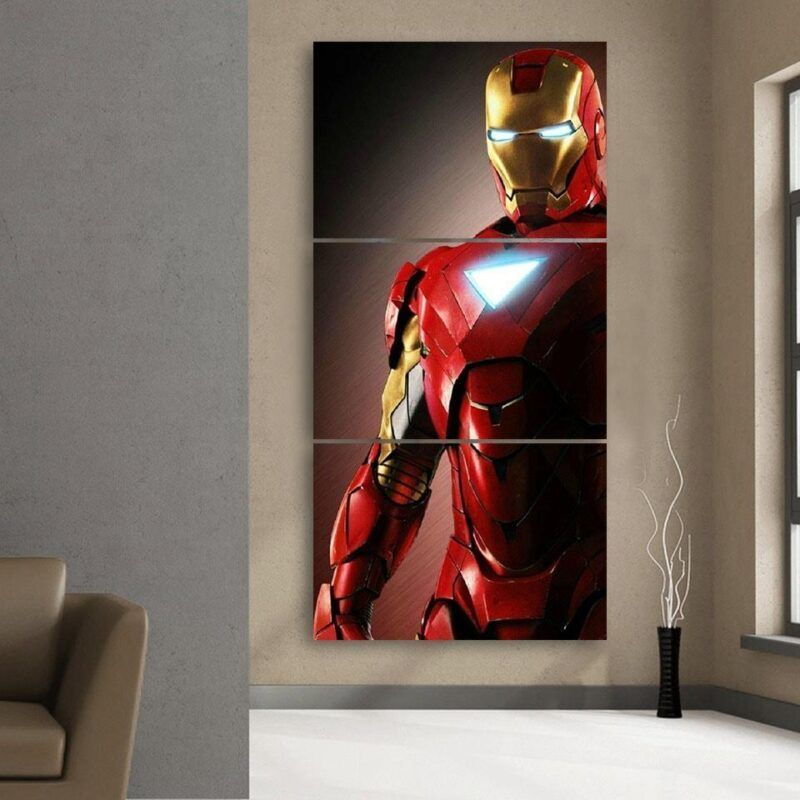 Marvel Comics Powerful Iron Man Portrait 3pcs Canvas Print