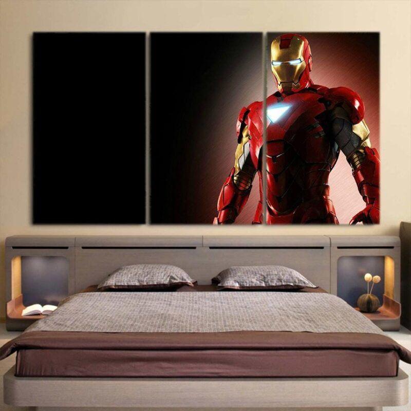 Marvel Comics Powerful Iron Man Style 3pcs Canvas Print