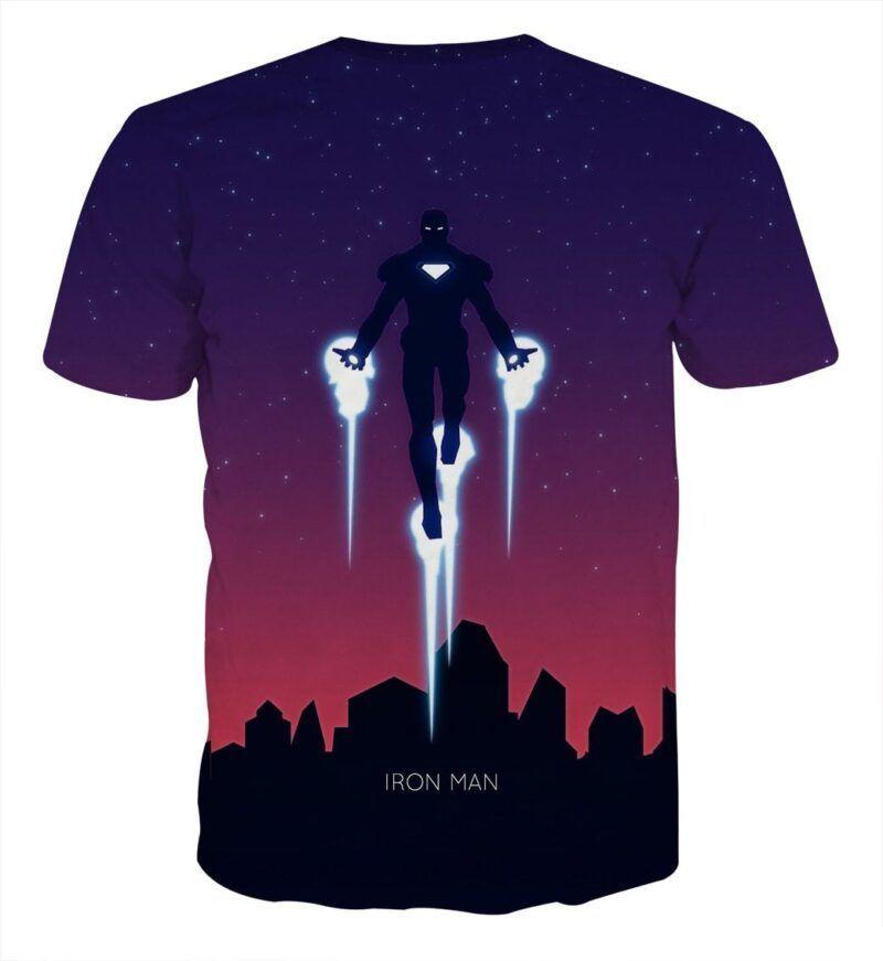 Marvel Comics Soar High Iron Man Design Full Print T-shirt