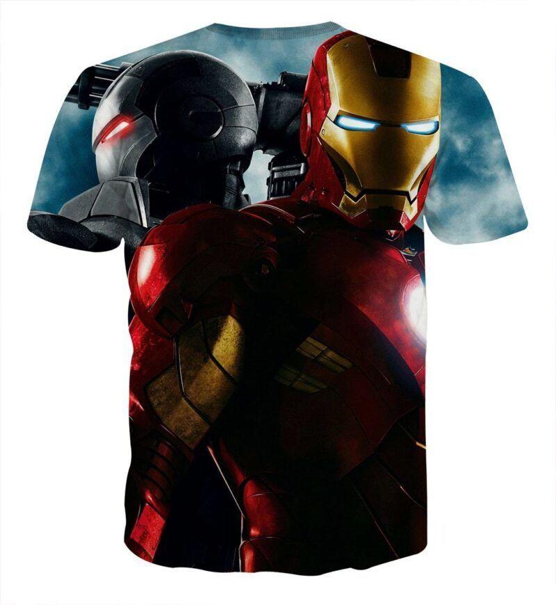Marvel Comics Two Iron Man Design Full Print T-shirt
