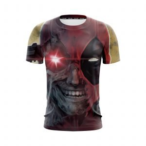 Marvel Crazy Deadpool Lunatic Wade Winston Wilson T-Shirt