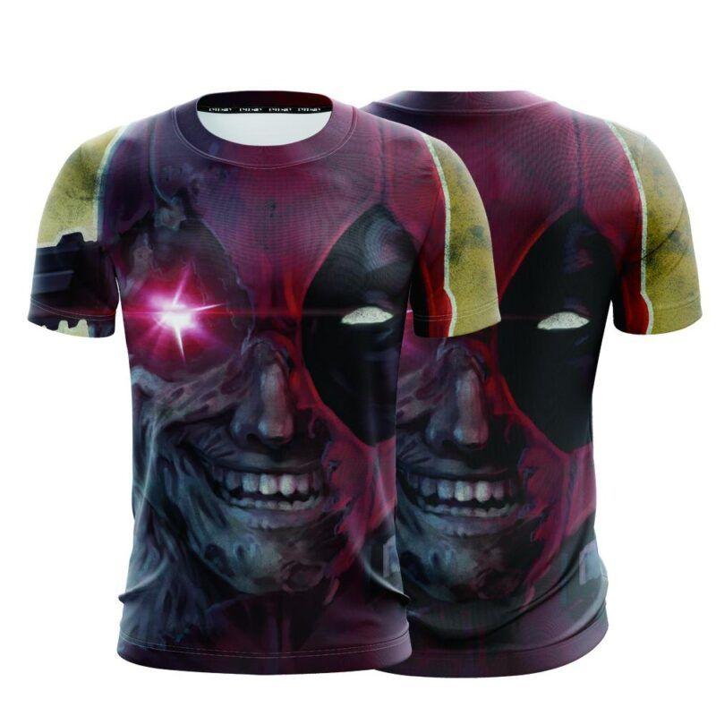 Marvel Crazy Deadpool Lunatic Wade Winston Wilson T-Shirt