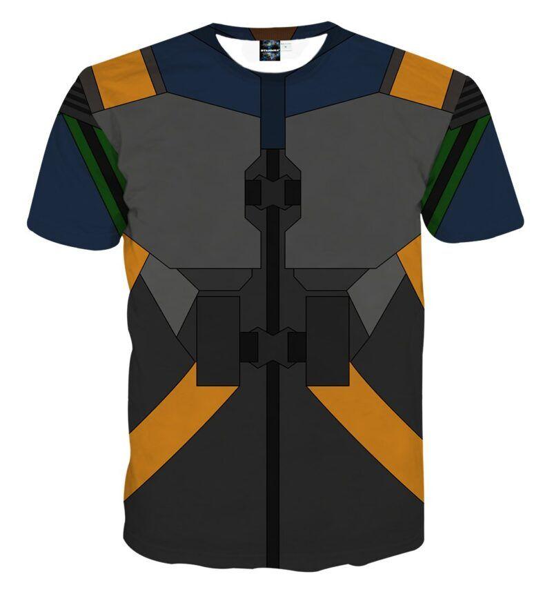 Marvel Erik Killmonger N'Jadaka Armor Suit Cosplay T-Shirt