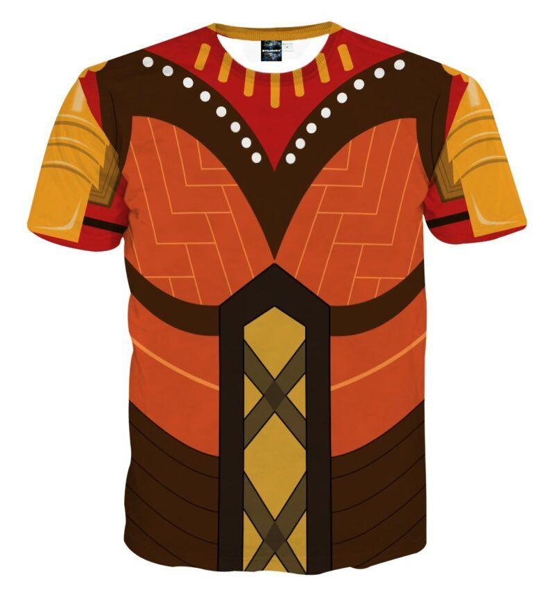 Marvel Okoyo Dora Milaje Leader Battle Suit Cosplay T-Shirt