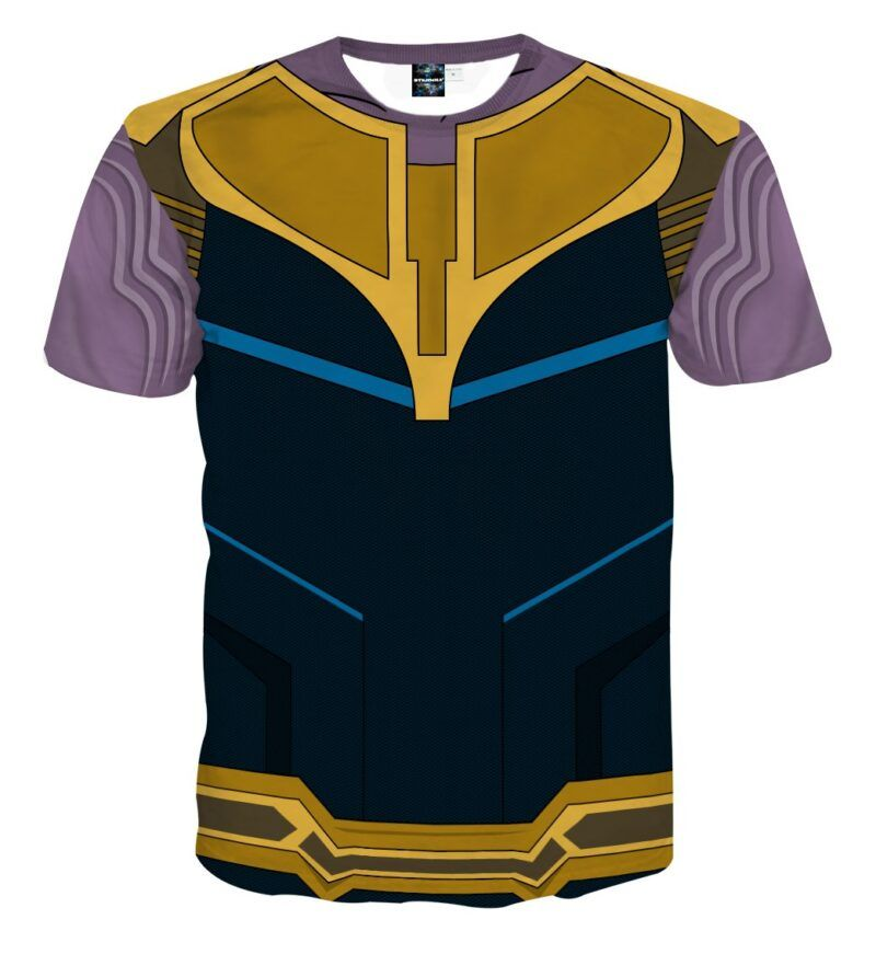 Marvel Powerful Thanos The Mad Titan Armor Cosplay T-Shirt