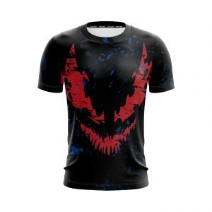 Marvel Scary Venom Symbiote Red Shadow Face Black T-Shirt