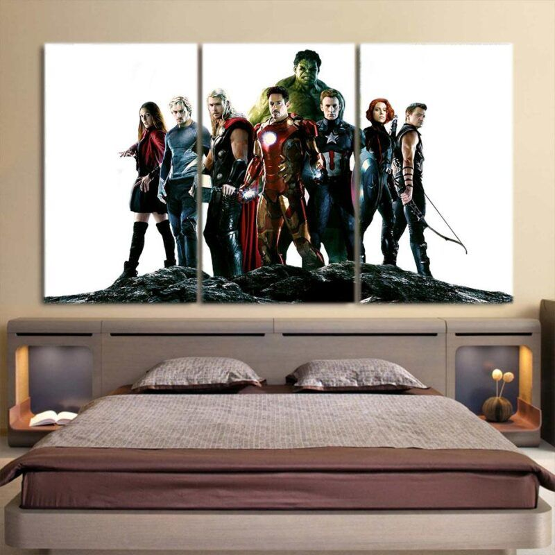 Marvel The Avengers Age of Ultron Main Characters 3Pcs Wall