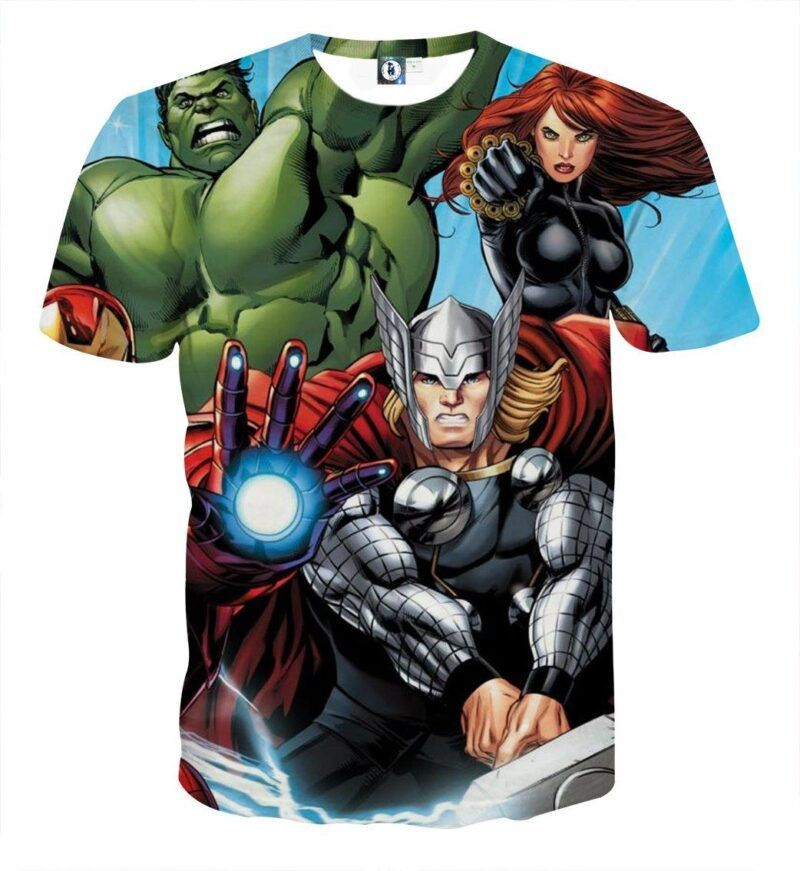 Marvel The Avengers Iron Man Repulsor Beam Unique T-Shirt