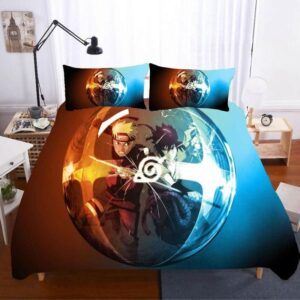 Naruto And Sasuke Fight Bubble Reflection Bedding Set
