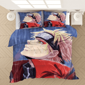 Naruto Sage Mode Under The Rain Fan Art Bedding Set