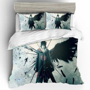 Naruto Shippuden Sasuke Uchiha Lone Ninja Bedding Set